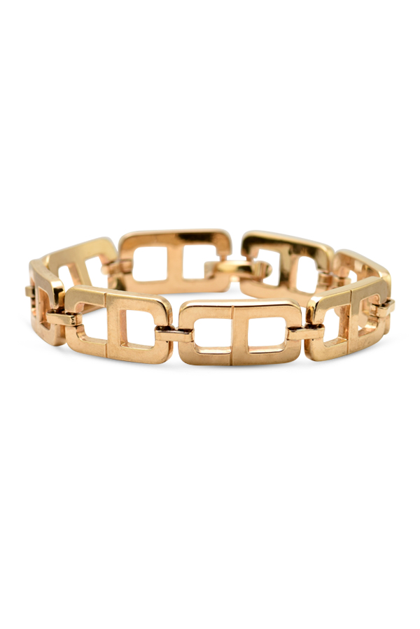 Christian Dior - Vintage Thick CD Chain Bracelet