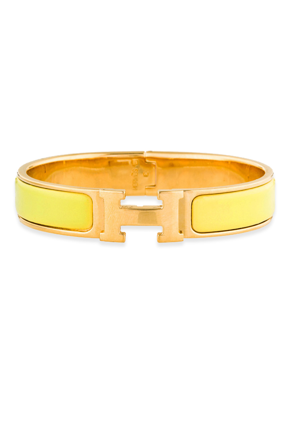 Hermes - Narrow Clic H Bracelet (Yellow/Yellow Gold Plated) - PM