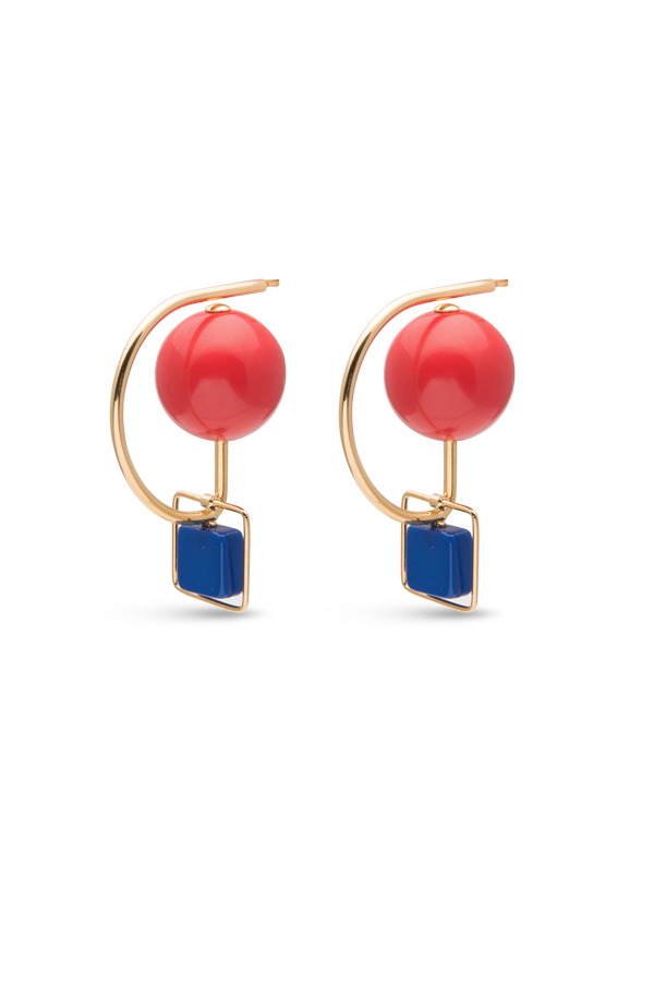 Marni - 1906908532_Switch Jewelry Marni Red and Blue Resin and Metal Hook Earrings jpg