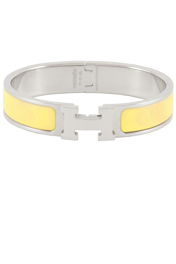 Hermes - Narrow Clic H Bracelet (Yellow/Palladium Plated) - PM