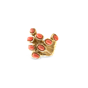 Yves Saint Laurent - Arty Dots Ring - (Orange) - Size 8