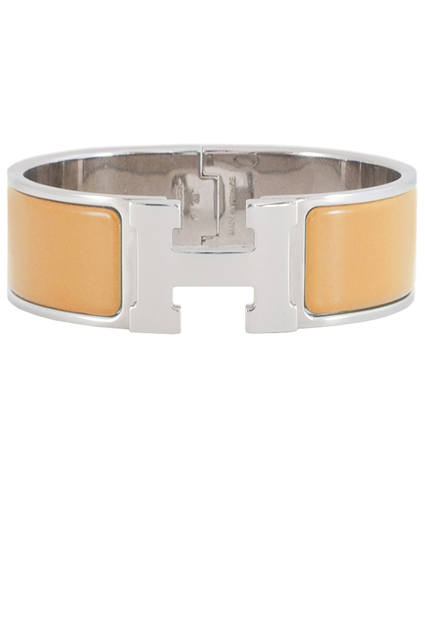 Hermes - Wide Clic Clac H Bracelet (Yellow/Palladium Plated) - GM