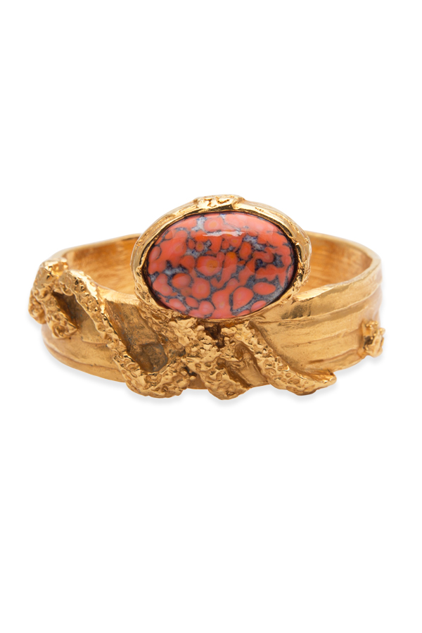 Yves Saint Laurent - Arty Oval Cuff - Red