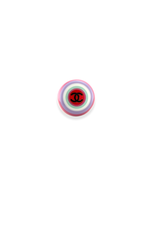 Chanel - Vintage Colorful Resin Signet Ring - Size 6