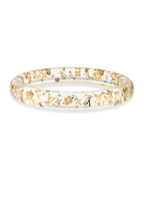 Louis Vuitton - Narrow Inclusion Bangle (Clear/Gold)