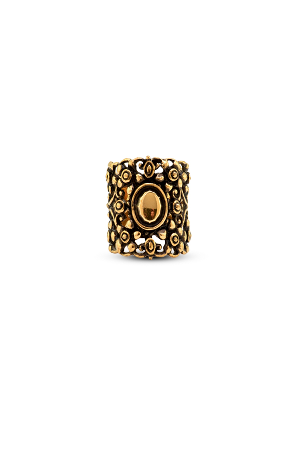 Gucci - Vintage Gold Wide Ring - Size 6.5