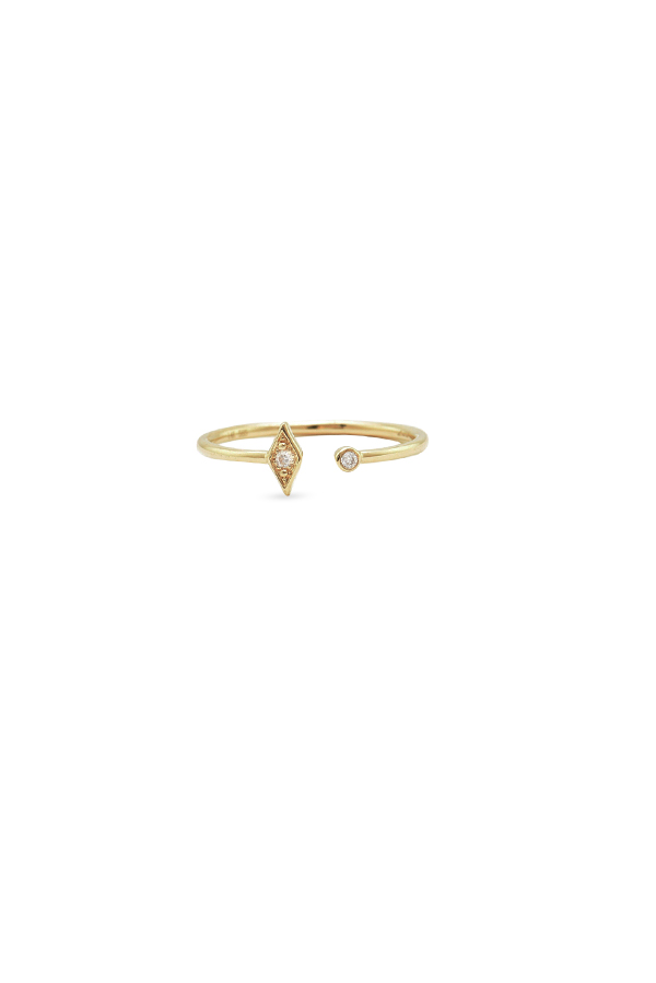 Do Not Disturb - The Maldives Ring (14k Yellow Gold and Diamonds) - Size 6.5