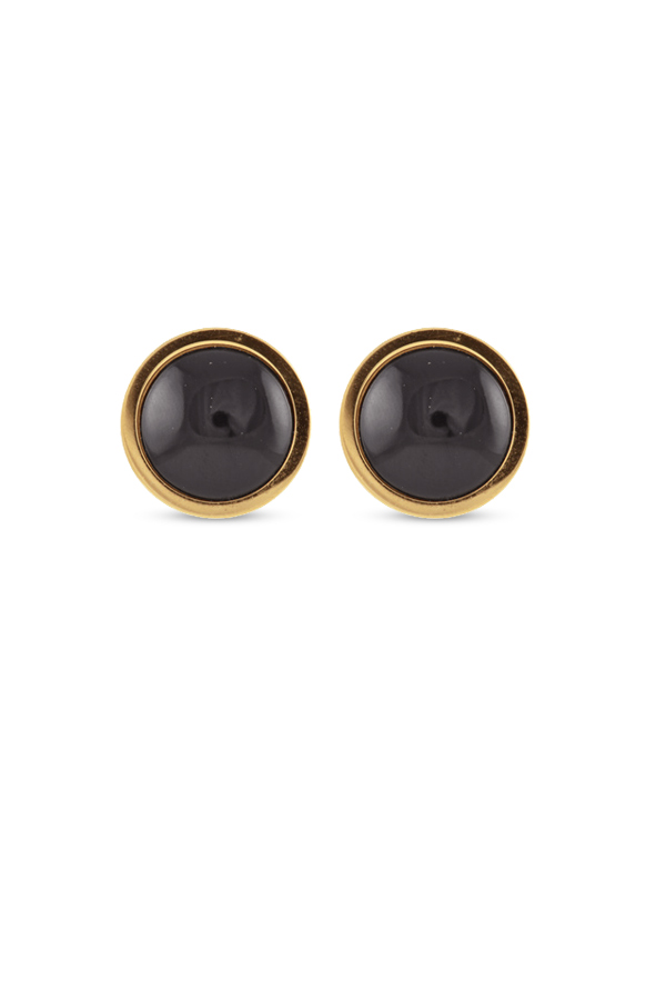Hermes - Simple Black Clip On Earrings
