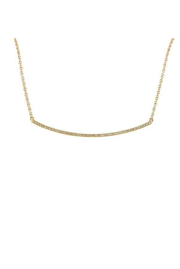 Switch - Curved Bar Necklace (18k Rose Gold)