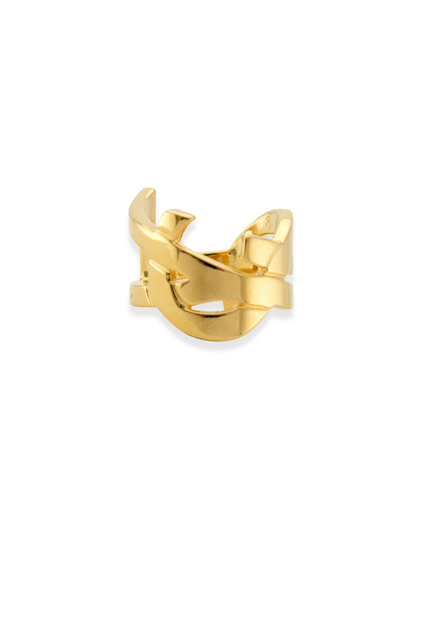 Yves Saint Laurent - Monogram Ring (Yellow Gold) - Size 7