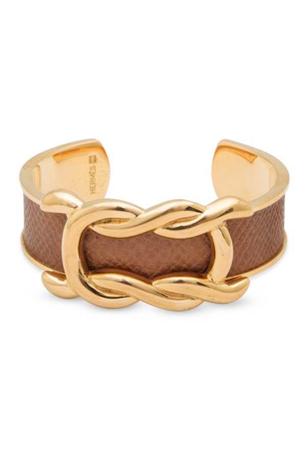 Hermes - Vintage Knot Cuff (Light Brown)