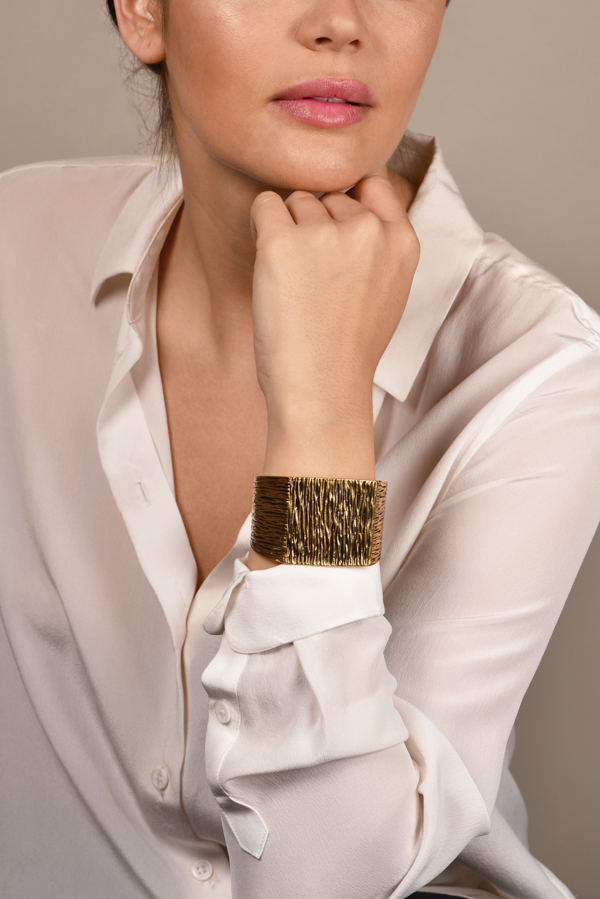 Yves Saint Laurent - Metallic Grunge Cuff View 2