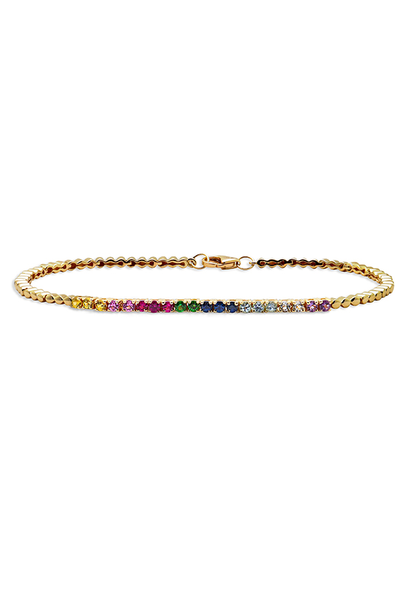 Do Not Disturb - The Toulouse Tennis Bracelet (14k Yellow Gold and Semi-Precious Stones) - Small