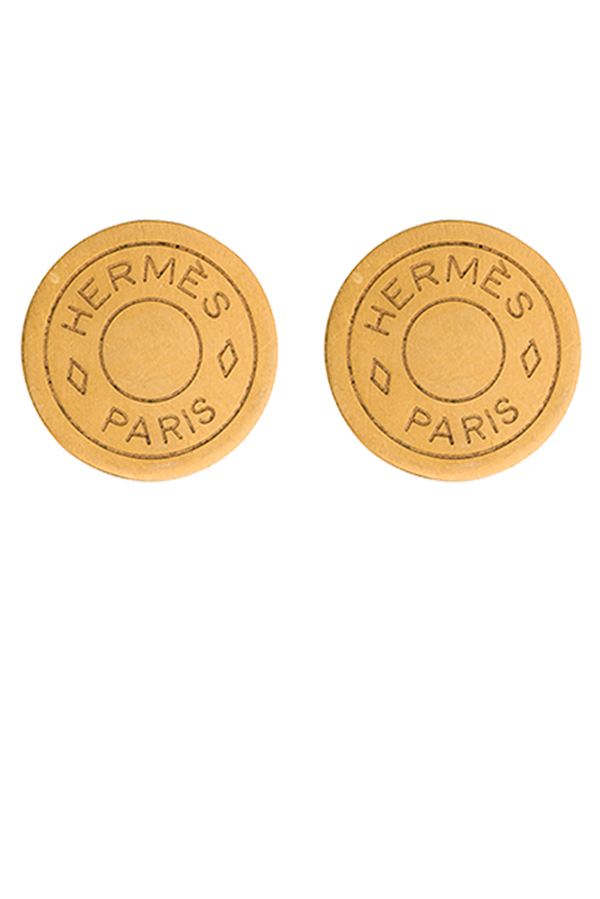 Hermes - Clou De Selle Earrings (Gold-tone)