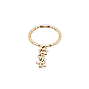 Yves Saint Laurent - Gold Logo Ring   Size 6 View 1