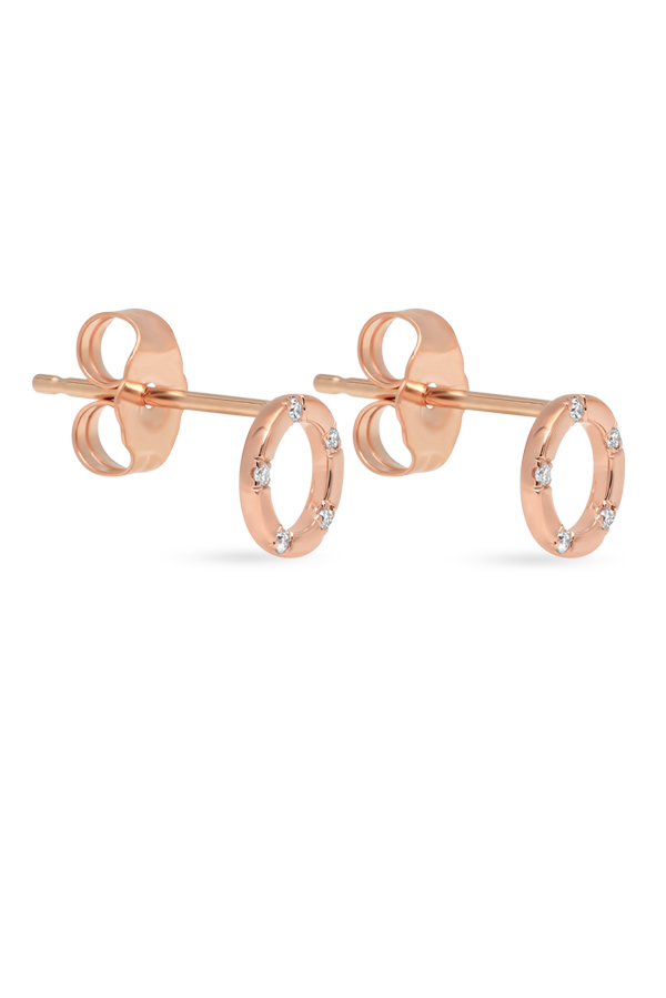 Switch - Simple Diamond Circle Studs  18k Rose Gold  View 2