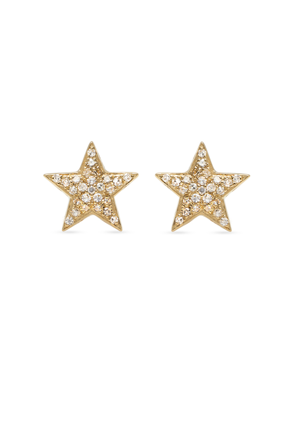 Do Not Disturb - The Sahara Studs (14k Yellow Gold and Diamonds)