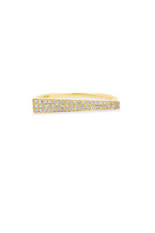 Do Not Disturb - The Copenhagen Ring (14k Yellow Gold and Diamonds) - Size 6