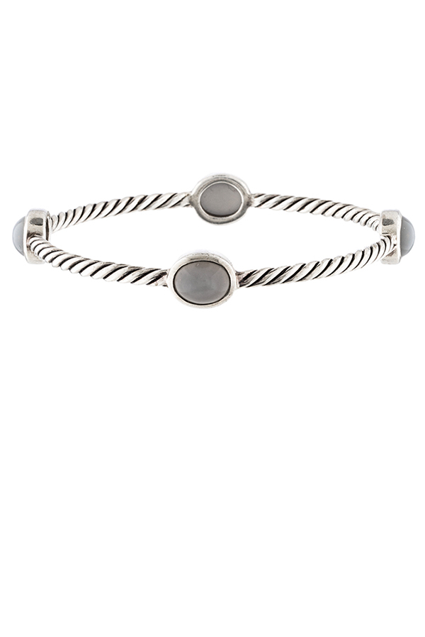 David Yurman - Moon Quartz Cable Bangle