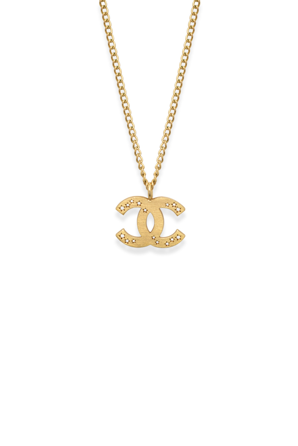 Chanel - Vintage Star Cutout CC logo Pendant Necklace