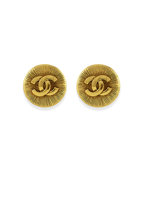 Chanel - Medium Embossed CC Clip On Earrings View 2