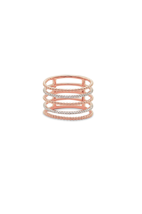 Do Not Disturb - The Sonoma Ring (14k Rose Gold and Diamonds) - Size 6
