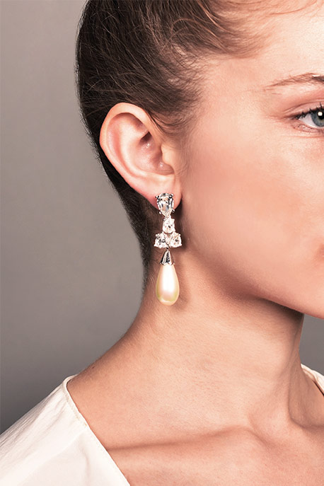 Christian Dior - Pearl Drop Statement Earrings View 2