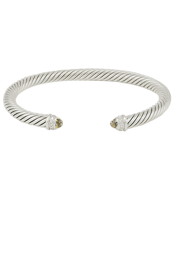 David Yurman - 5mm Cable Bracelet (Citrine)
