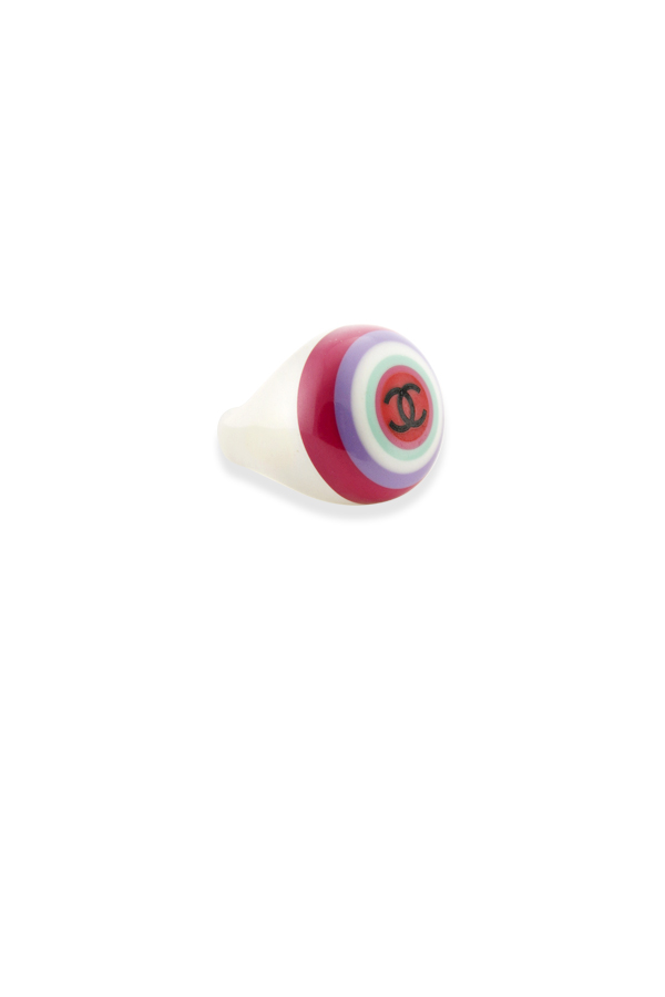Chanel - 213499696_Switch Jewelry Chanel Vintage Colorful Resin Signet Ring 2 jpg