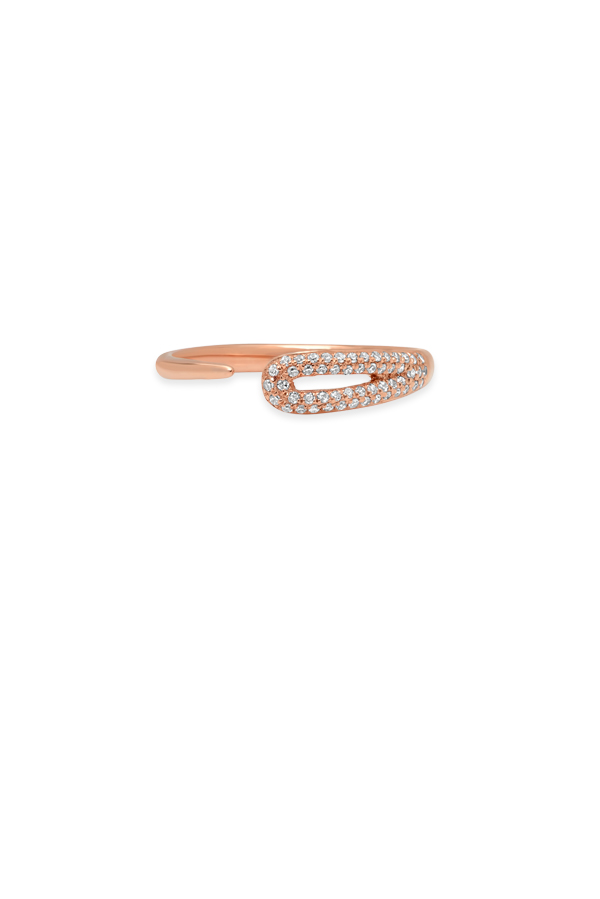 Do Not Disturb - The Split Ring (14k Rose Gold and Diamonds) - Size 7