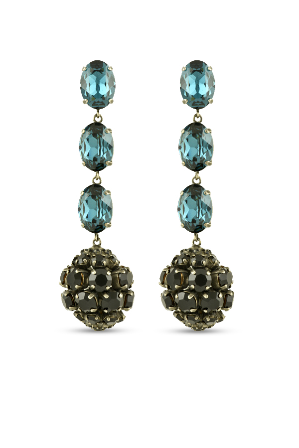 Marni - Strass Crystal Ball Earrings