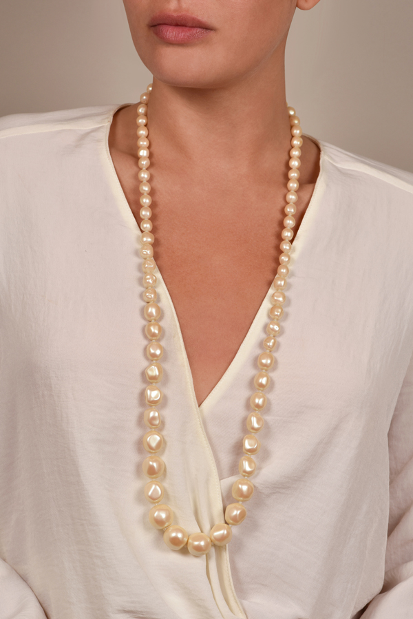 Yves Saint Laurent - Faux Pearl Necklace