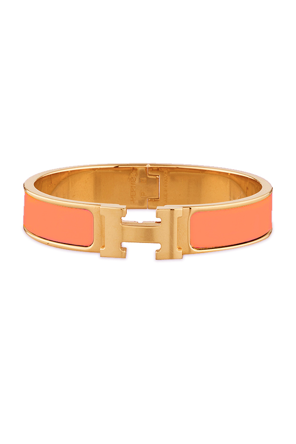 Hermes - Narrow Clic H Bracelet (Peche Melba/Yellow Gold) - PM