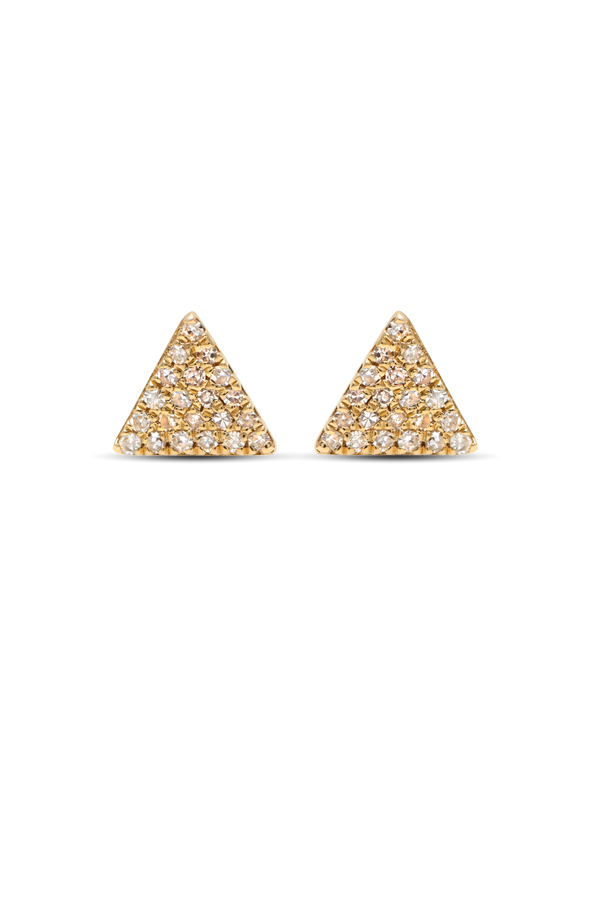 Do Not Disturb - The Giza Studs (14k Yellow Gold and Diamonds)