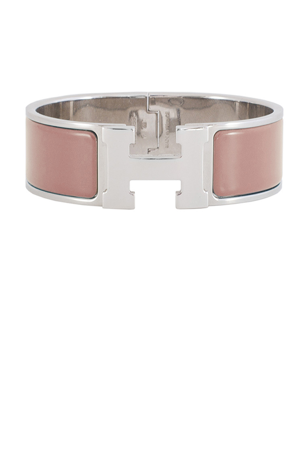 Hermes - Wide Clic Clac H Bracelet  Dark Nude Palladium Plated    PM View 1
