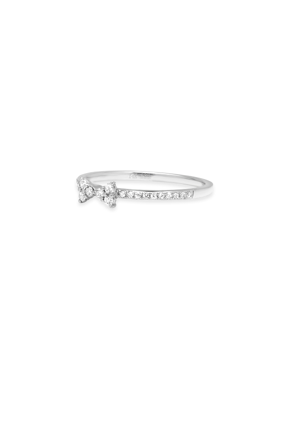 Do Not Disturb - The Biarritz Ring (14k White Gold and Diamonds) - Size 6
