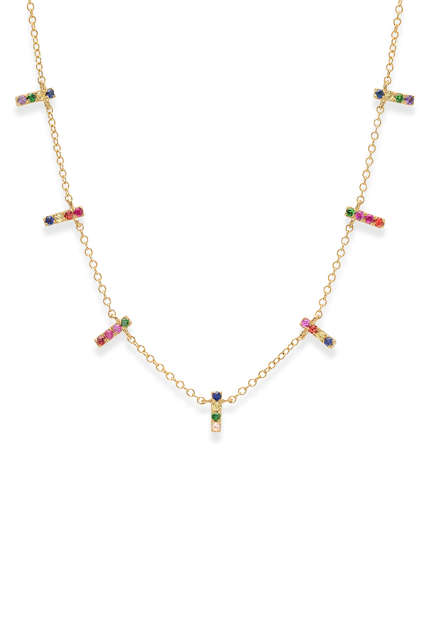 Do Not Disturb - The London Necklace  14k Yellow Gold and Semi Precious Stones  View 1
