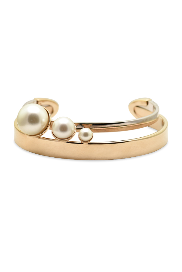 Christian Dior - Gold and Silver Faux Pearl Bracelet