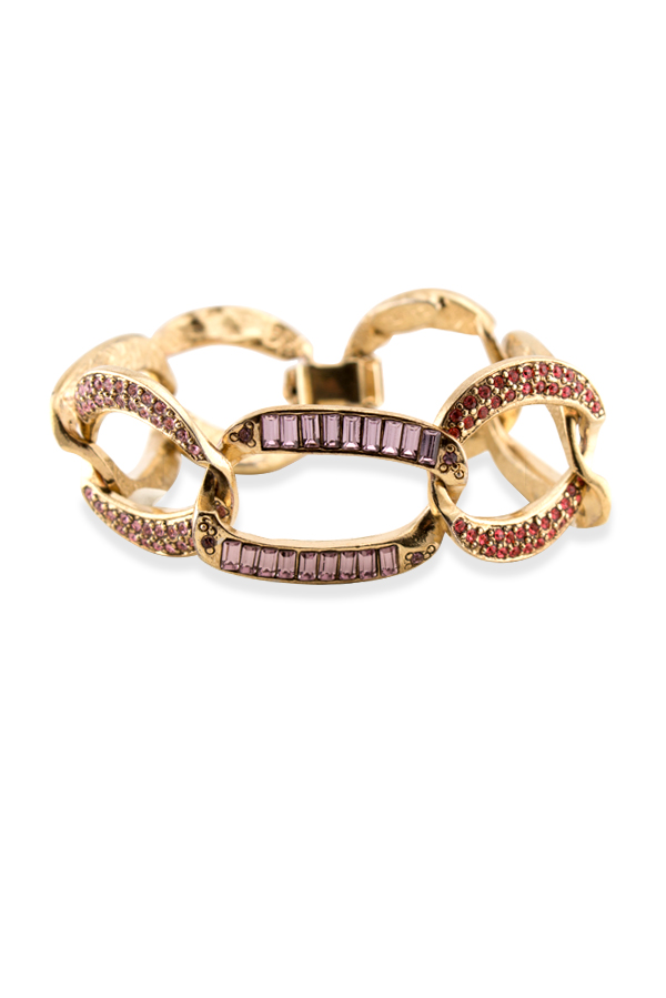 Oscar De La Renta - Multicolored Chain Link Bracelet View 1