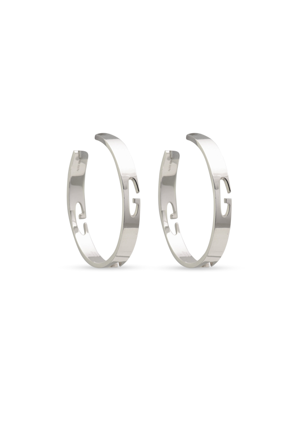 c62afc2b734 Gucci - G Cutout Silver Hoop Earrings