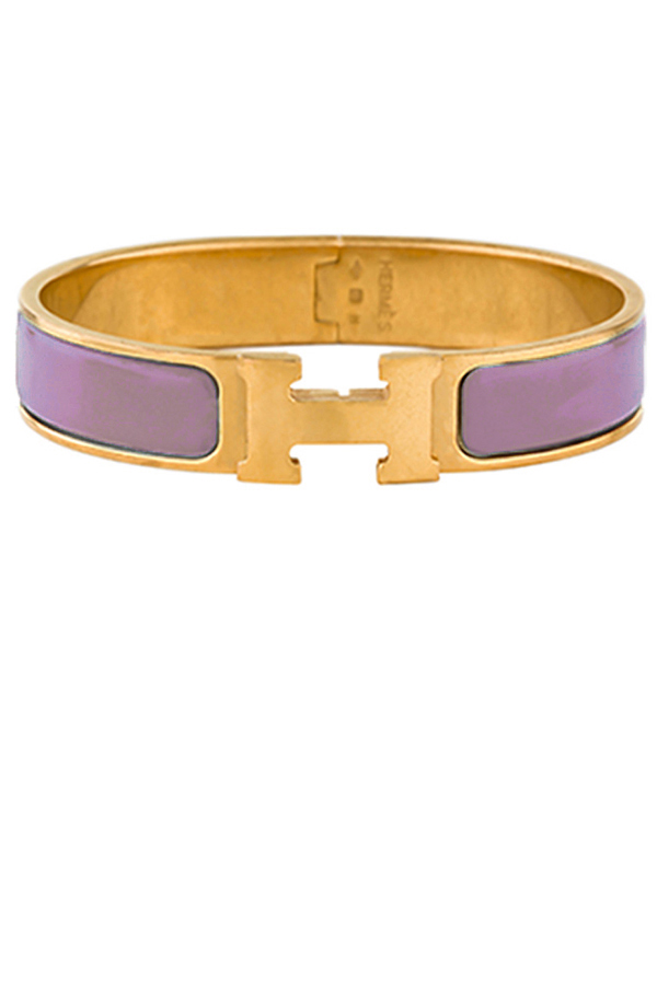 Hermes - Narrow Clic H Bracelet (Rose Pink/Yellow Gold Plated) - PM