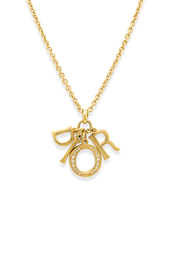 Christian Dior - Rolo Link Logo Dangle Necklace