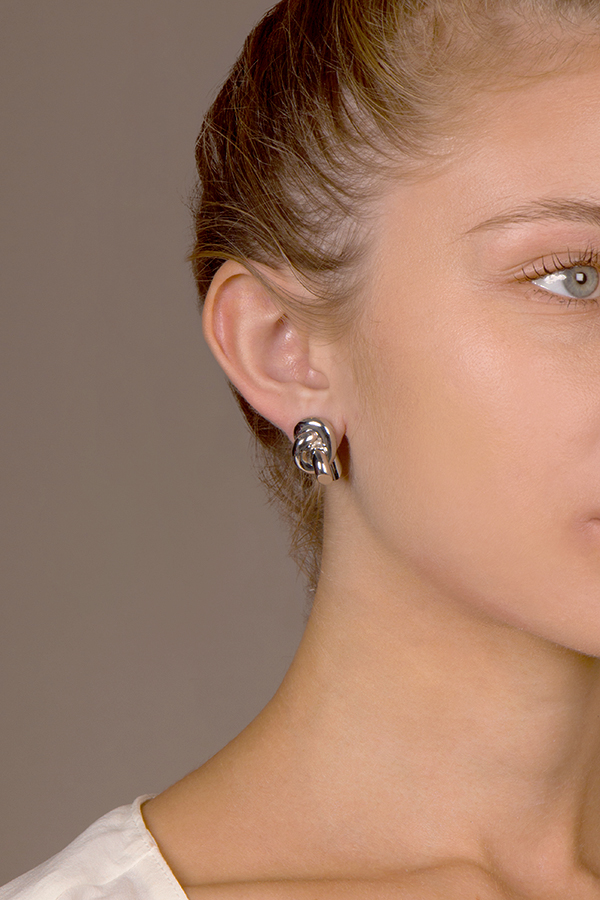 Balenciaga - Knot Stud Earrings View 3