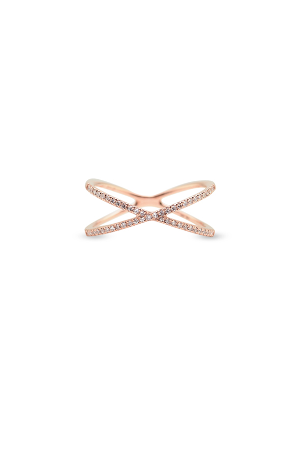 Do Not Disturb - The Grenada Ring (14k Rose Gold and Diamonds) - Size 6.5