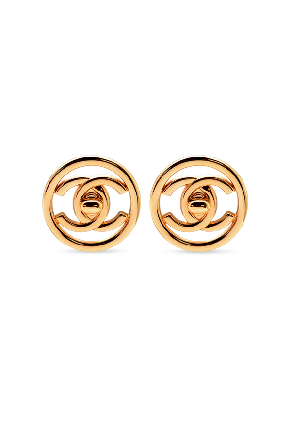 Chanel - Small Circular Turn-Lock Clip-On Earrings (Gold)