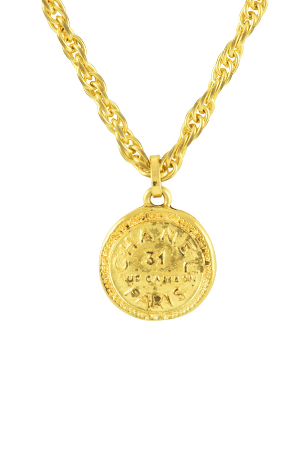 Chanel - Vintage Medallion Charm Necklace