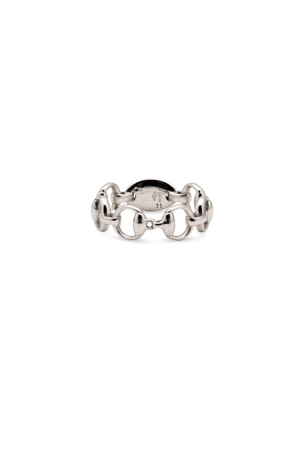 Gucci - 18K White Gold Horsebit Band