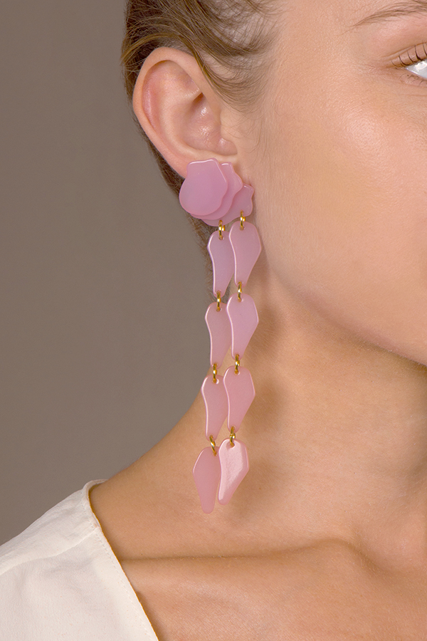 Lele Sadoughi - Wisteria Earrings - Rose Hip