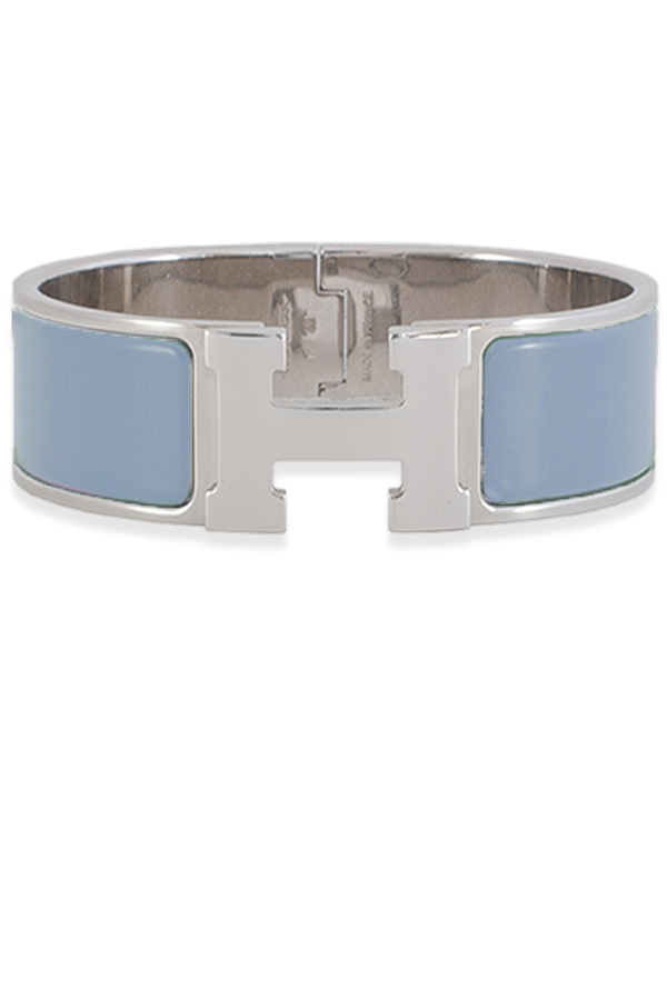 Hermes - Wide Clic Clac H Bracelet  Glacier Blue Palladium Plated    GM View 1
