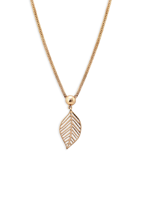 Christian Dior - Leaf Pendant Necklace View 1